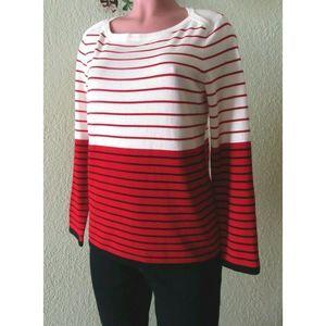 Tommy Hilfiger Women Striped Boat-Neck Sweater